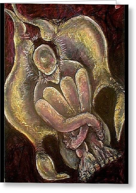 Arch Angel Michael Greeting Card by Carol Rashawnna Williams
