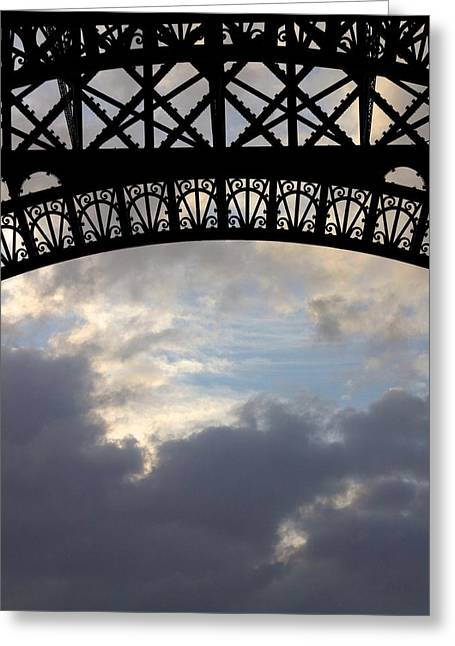 Greeting Card featuring the photograph Arch At The Eiffel Tower by Heidi Hermes