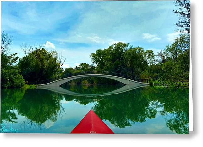 Arch Bridge Over Canal Greeting Card