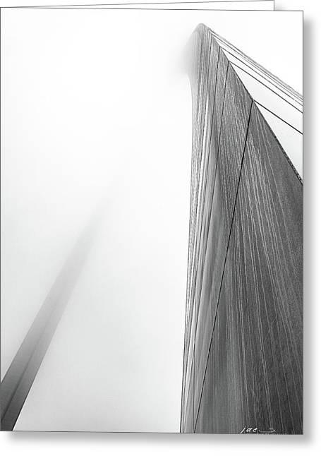 Arch In Fog Greeting Card by Jae Mishra
