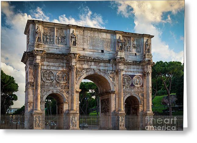Arch Of Constantine Greeting Card by Inge Johnsson