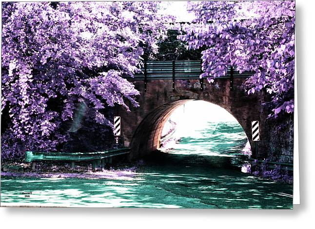 Arch Of Light Greeting Card by Dennis Baswell