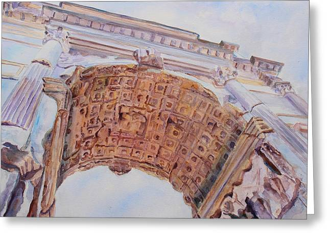 Arch Of Titus One Greeting Card