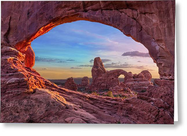 Temple Of Inspiration Greeting Card by Mikes Nature