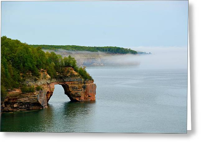 Greeting Card featuring the photograph Arch Over Superior by SimplyCMB