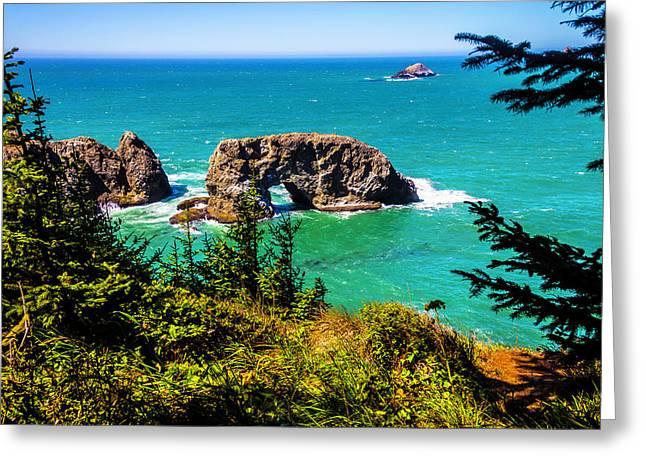 Arch Rock Oregon Coast Greeting Card