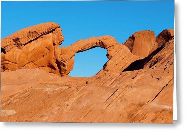 Arch Rock Greeting Card by Rae Tucker