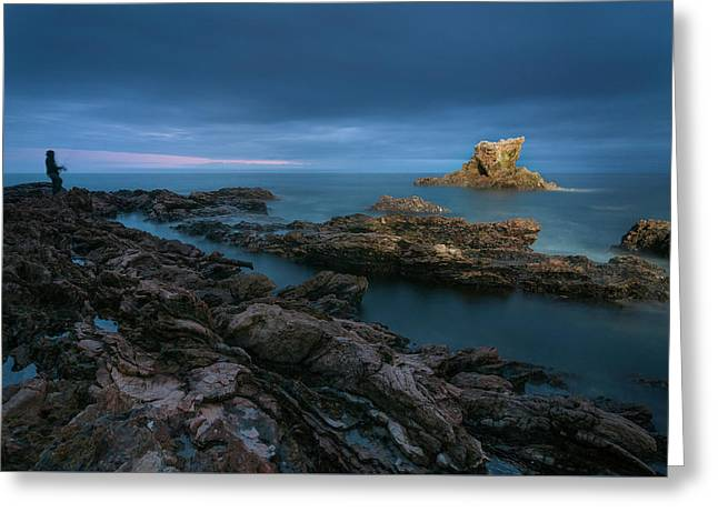 Arch Rock Greeting Card by Ralph Vazquez