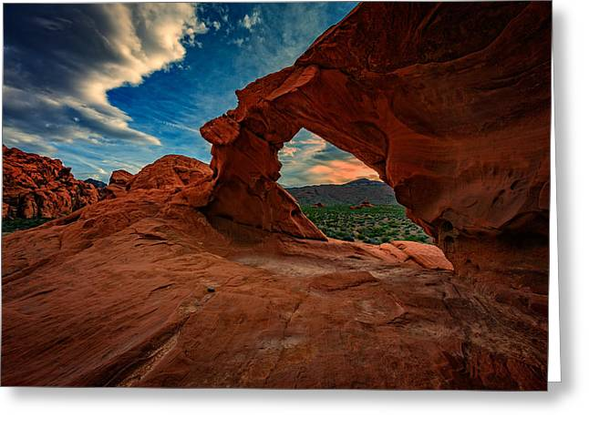 Arch Rock Greeting Card by Rick Berk