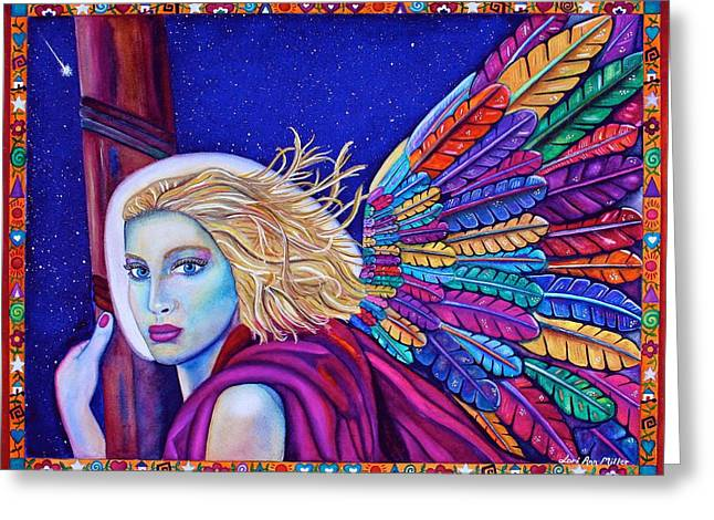Archangel Ariel Greeting Card by Lori Miller