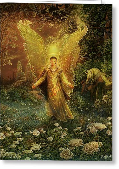 Archangel Azrael Greeting Card
