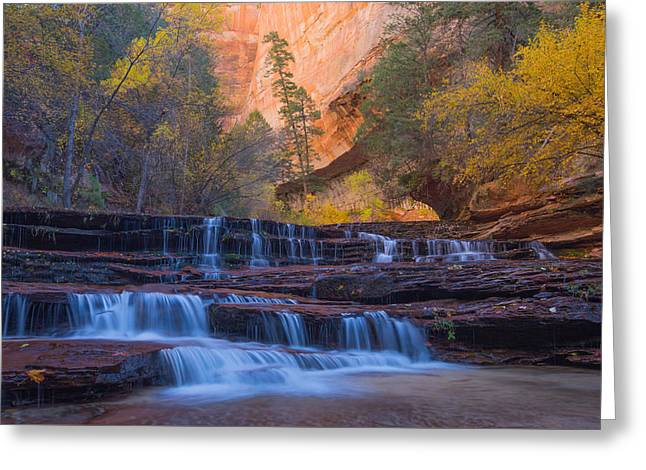 Archangel Falls In Autumn Greeting Card
