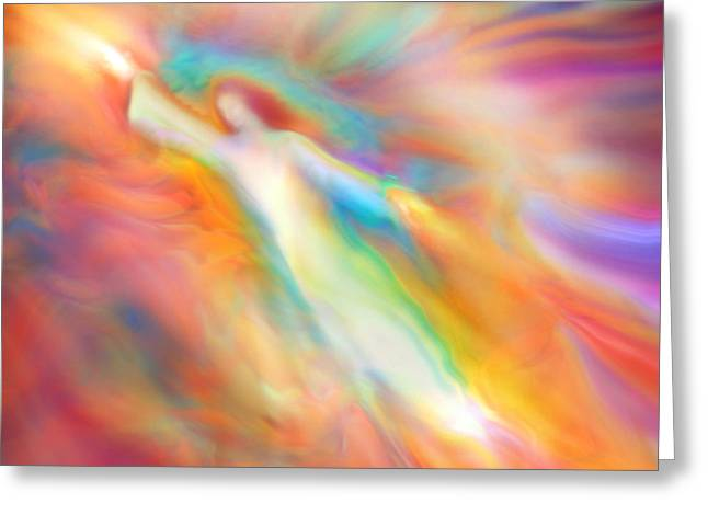 Archangel Jophiel Illuminating The Ethers Greeting Card