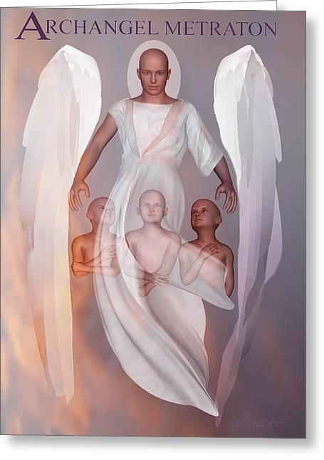 Archangel Metraton Greeting Card