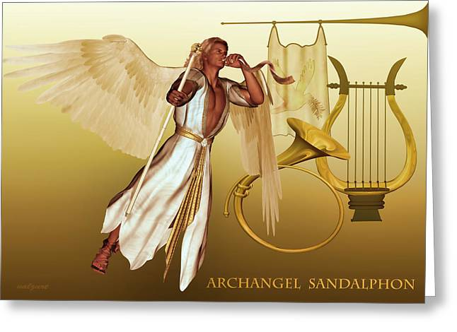 Archangel Sandalphon Greeting Card