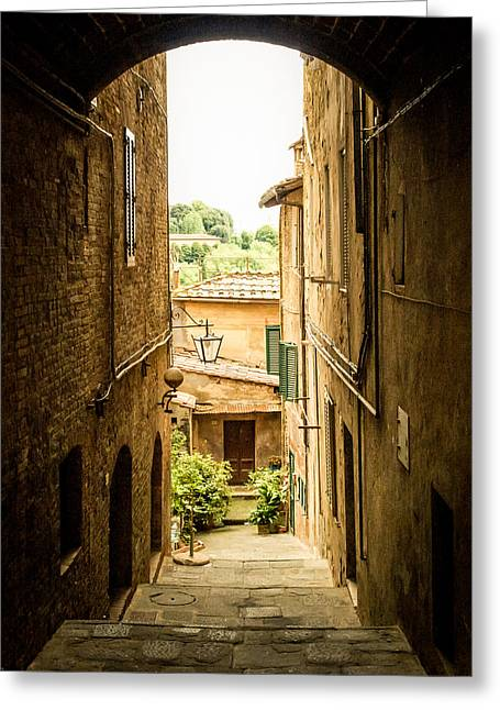 Arched Alley Greeting Card