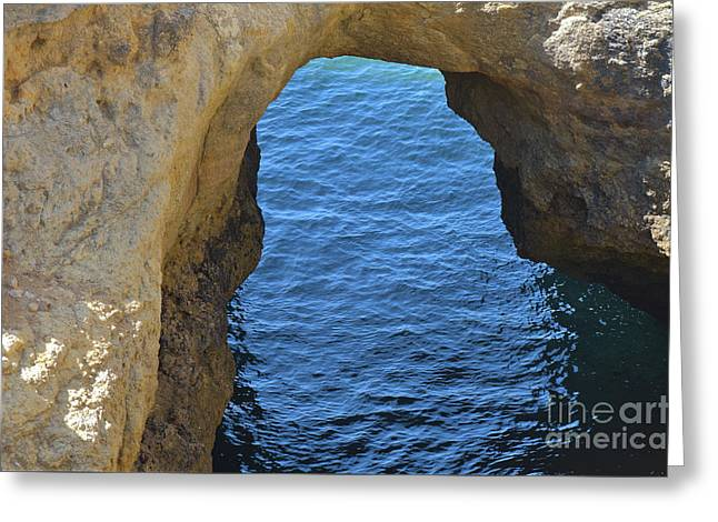 Arched Cliff In Carvoeiro Greeting Card