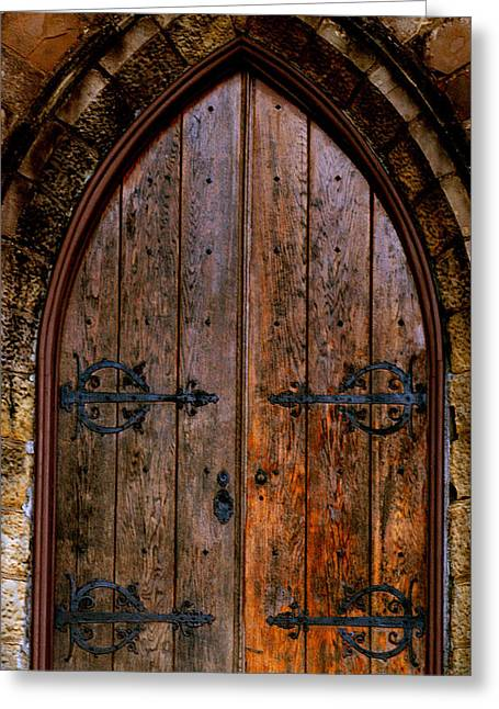 Arched Doorway Greeting Card by Jason Blalock