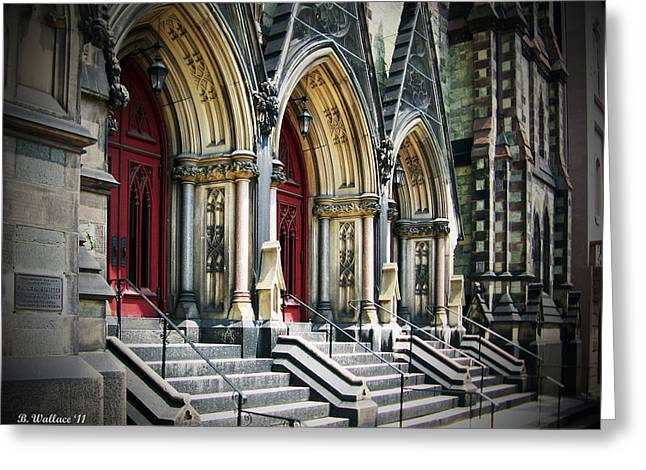 Arched Doorways Greeting Card by Brian Wallace