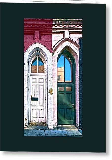 Door One And Door Too Greeting Card