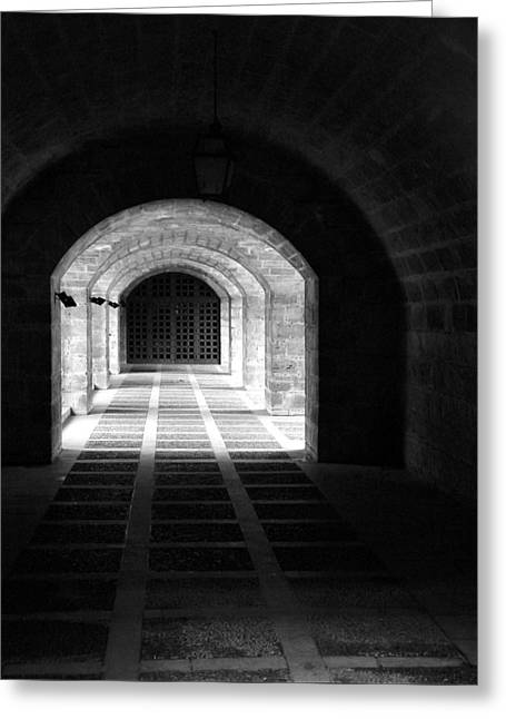 Arched Hallway In Palma Greeting Card