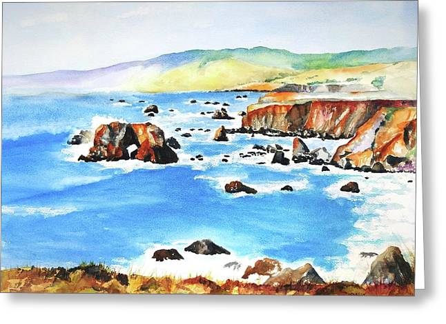 Arched Rock Sonoma Coast California Greeting Card