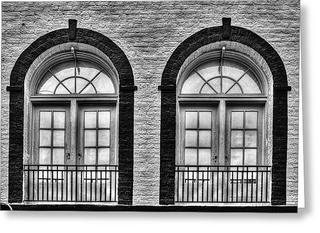 Arched Windows Greeting Card by Dawn Currie