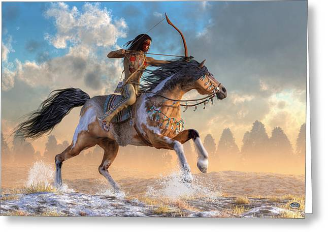 Archer On Horseback Greeting Card