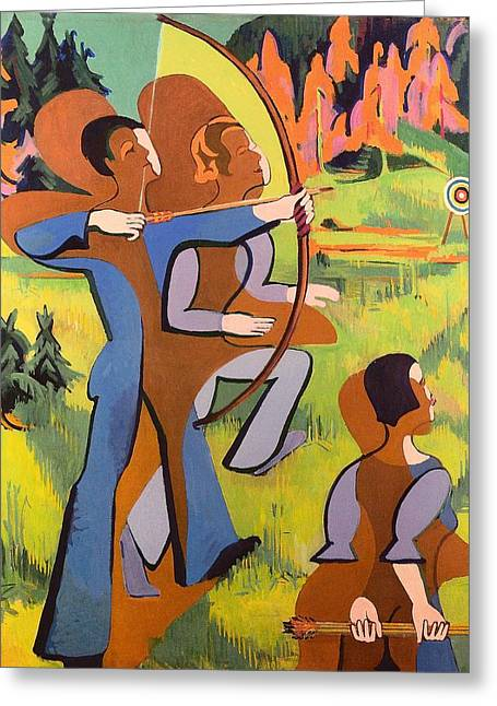 Archers Greeting Card by Mountain Dreams