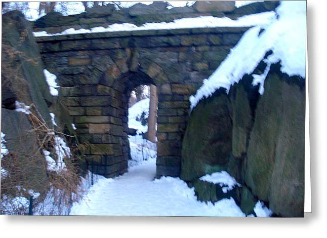 Arches And Bridges - Central Park Nyc Greeting Card