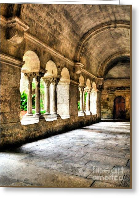 Arches And Columns # 2 Greeting Card