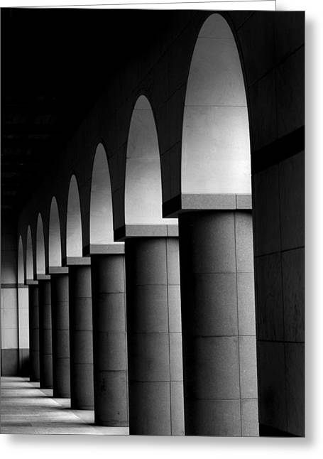 Arches And Columns 1 Greeting Card by John Gusky