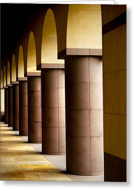 Arches And Columns 2 Greeting Card by John Gusky