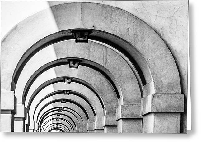 Arches At The Arno Greeting Card