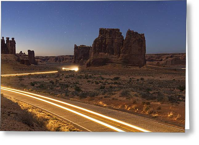 Arches Evening Exit Greeting Card