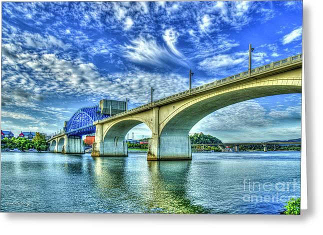 The Arches John Ross Market Street Bridge Historic Chattanooga Tennessee Art Greeting Card