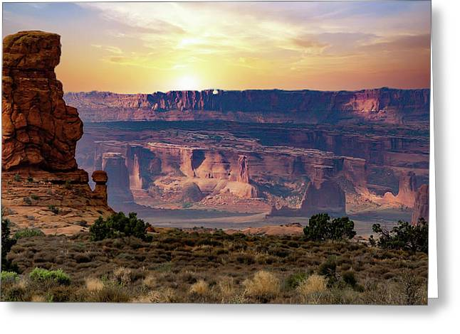 Arches National Park Canyon Greeting Card
