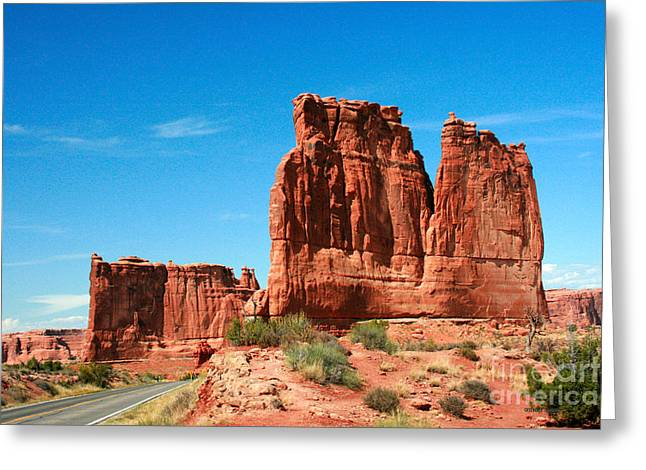 Arches National Park From A Utah Highway Greeting Card