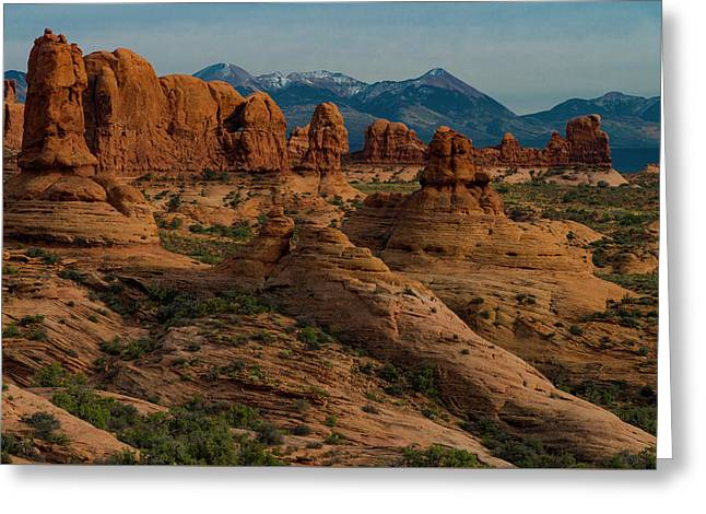Greeting Card featuring the photograph Arches National Park by Gary Lengyel