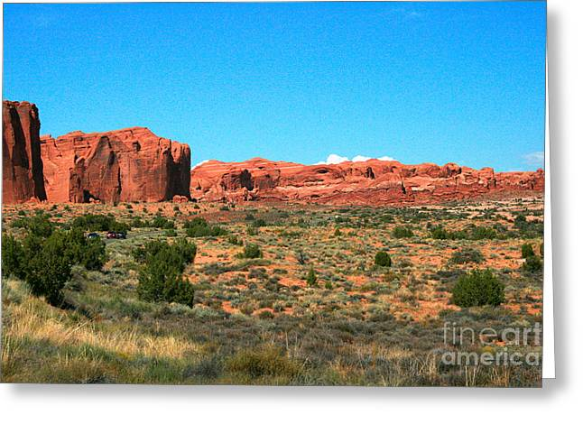 Arches National Park In Moab, Utah Greeting Card