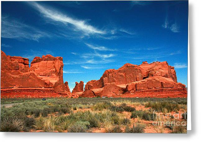 Arches National Park, Park Avenue Greeting Card
