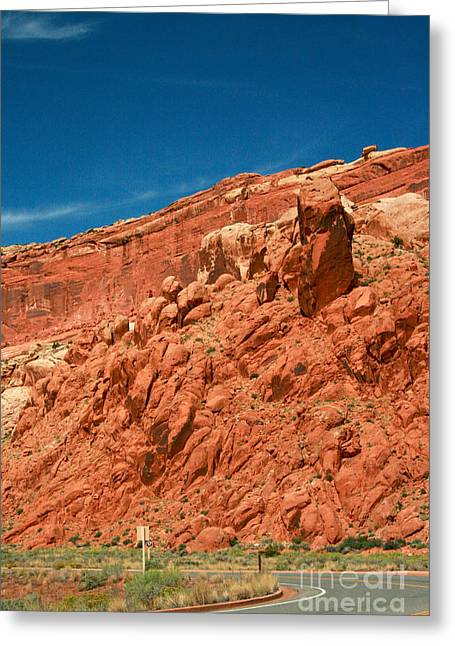 Arches National Park Roadway Greeting Card by Corey Ford