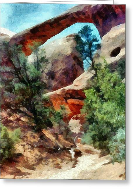 Arches National Park Trail Greeting Card