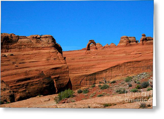 Arches National Park, Utah Usa - Delicate Arch Greeting Card