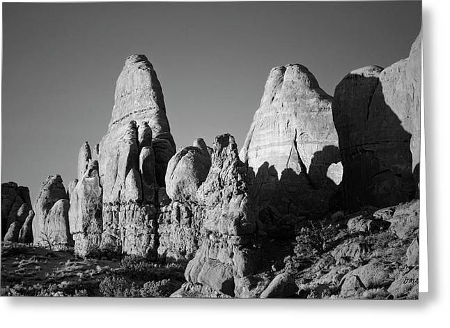 Arches Np II Bw Greeting Card by David Gordon