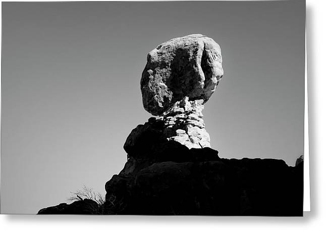 Arches Np Xvii Bw Sq Greeting Card