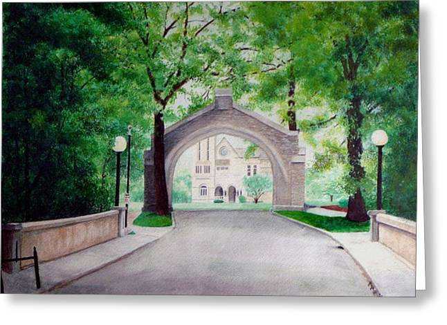 Arches Of Shadduck St Mary Greeting Card by Marcus Moller