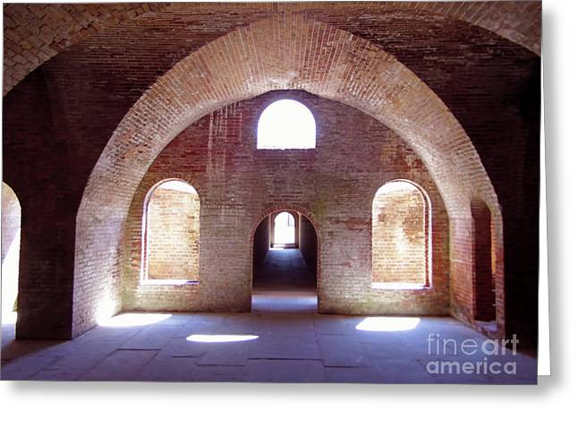 Arches Of Sunshine Greeting Card