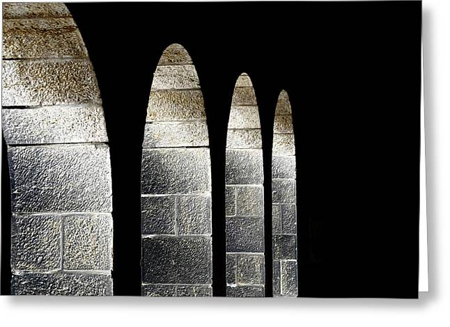 Arches Per Israel Greeting Card by Deb Cohen