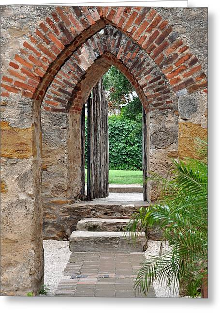Arches To Heaven Greeting Card by Teresa Blanton